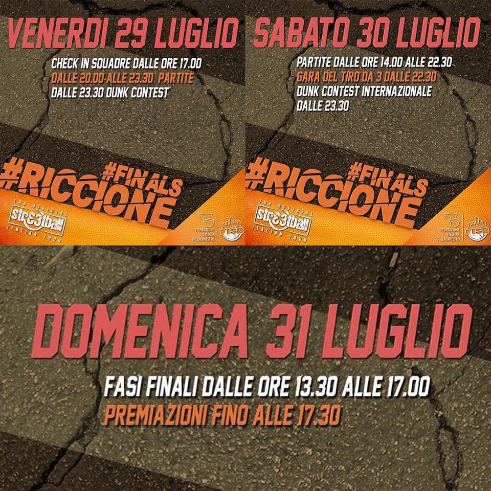 A Riccione le Finals dello Streetball Italian Tour